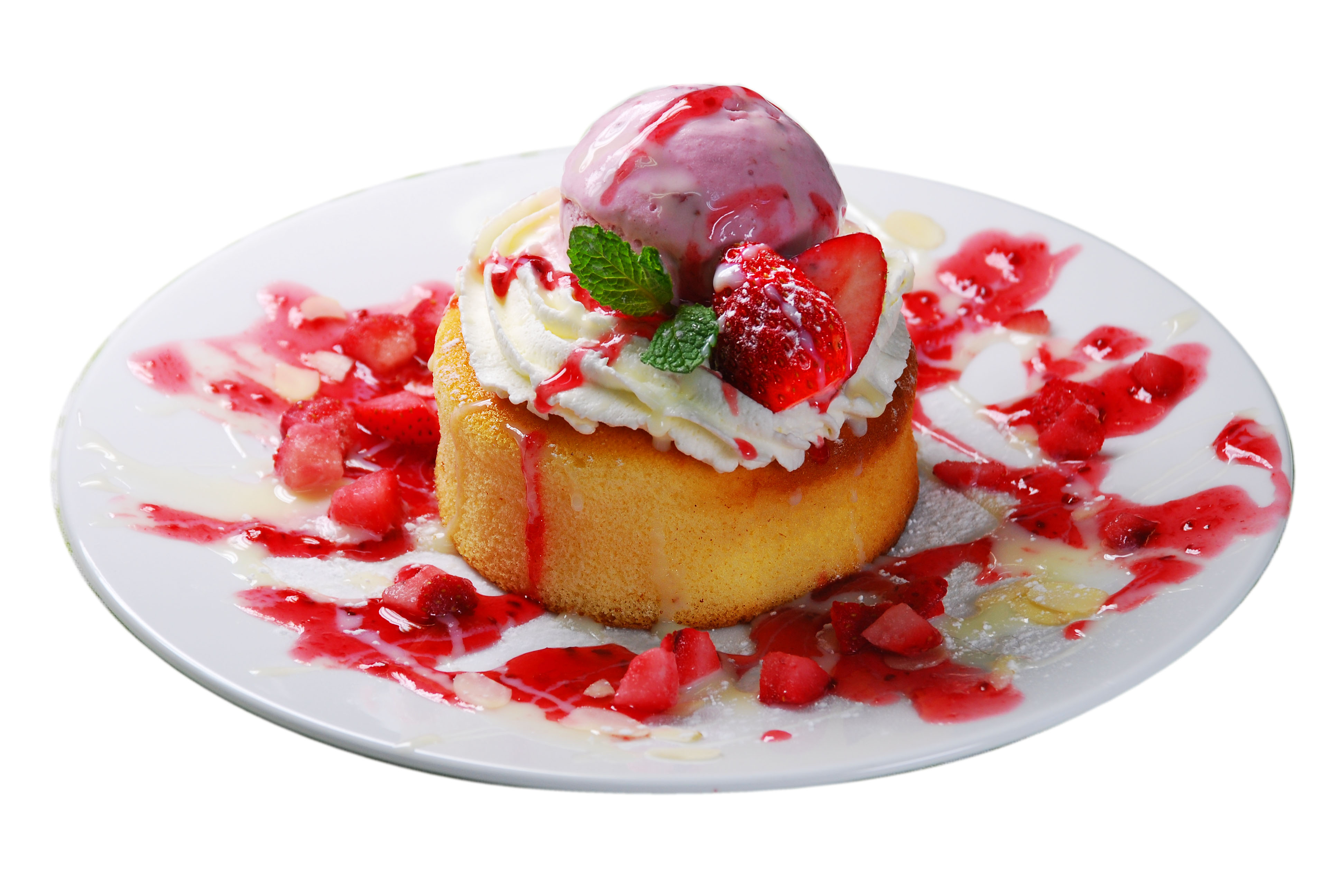 <p>いちごスフレパンケーキ</p>(季節のメニュー)